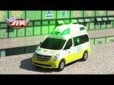 HelloCarbot2 Transformers StopMotion 헬로카봇2 장난감 스타렉스 댄디 119구급차  노랑색 컬러합성 야외 스톱모션 변신로봇 변신자동차 애니메이션 동영상