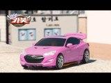 HelloCarbot2 Transformers StopMotion 헬로카봇2 장난감 제네시스 쿠페 본 핑크색 컬러합성 야외 스톱모션 변신로봇 변신자동차 애니메이션 동영상