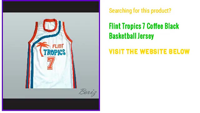Flint Tropics 7 Coffee Black Basketball Custom Jersey