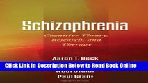 Download Schizophrenia: Cognitive Theory, Research, and Therapy  PDF Online