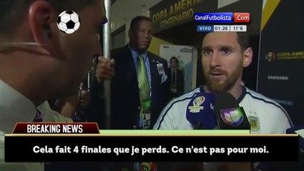Lionel Messi annonce sa retraite internationale !
