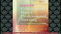 READ book  Leddy  Peppers Conceptual Basis of Professional Nursing  DOWNLOAD ONLINE