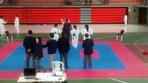 Premiación competencia Compensar Karate - katas categoría femenino - 17 años