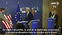 Brexit: les Etats-Unis veulent une «EU forte» (Kerry)