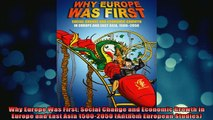 READ book  Why Europe Was First Social Change and Economic Growth in Europe and East Asia 15002050 Full Free