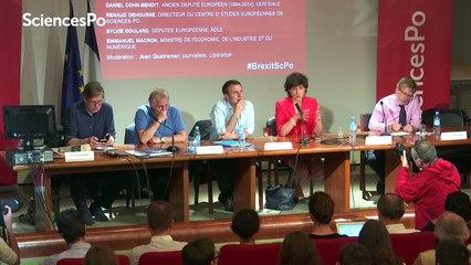 Brexit : débat avec Emmanuel Macron Daniel Cohn-Bendit et Sylvie Goulard