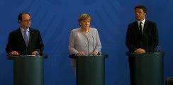 Déclaration commune avec Mme Angela Merkel, Chancelière de la République fédérale d'Allemagne et M. Matteo Renzi, Président du Conseil des ministres de la République italienne