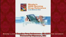 READ book  Mosbys 2009 Nursing Drug Reference  CDROM PDA Software Powered by Skyscape 22e  FREE BOOOK ONLINE