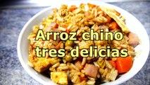 ARROZ FRITO CHINO TRES DELICIAS - recetas de cocina faciles rapidas y economicas de hacer