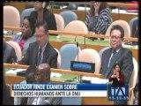 Ecuador rinde examen sobre derechos humanos ante la ONU