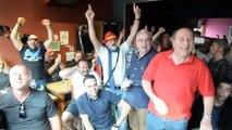 La joie dans les cafés pour borain pour la victoire italienne
