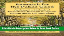 Read Research for the Public Good: Applying Methods of Translational Research to Improve Human