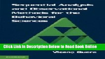 Read Sequential Analysis and Observational Methods for the Behavioral Sciences  PDF Free