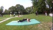 Guillaume Bourgeois, freestyle pompes au Reims Street Workout Tournament le 23/08/14