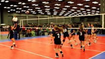Molly Smith, Volleyball, #7, Setter, AJV 17 Mizuno, Day 1, Tour of Texas Warm Up Tourney, 12/29/12