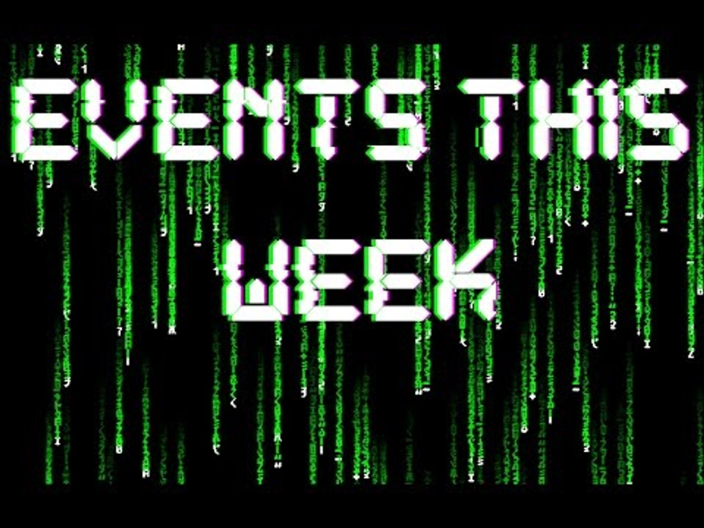 Events This Week