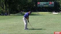 Golf : Ernie Els tir dans le trou sans rebond à 143 mètres de distance