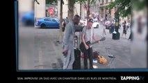Seal improvise un duo avec un chanteur dans les rues de Montréal, la vidéo insolite!