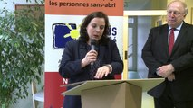 Emmanuelle Cosse inaugure le centre d'hébergement et de réinsertion sociale, Quai de Metz