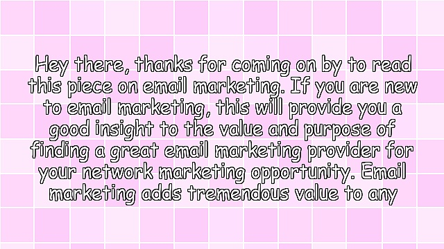 Email Marketing Value for a Network Marketing Business