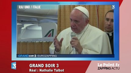 Le pape appelle l'Église à demander pardon aux homosexuels - Zapping du 28 juin