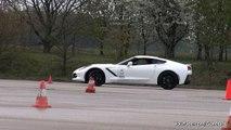 Corvette C7 Stingray Trying to Drift + Burnout!!