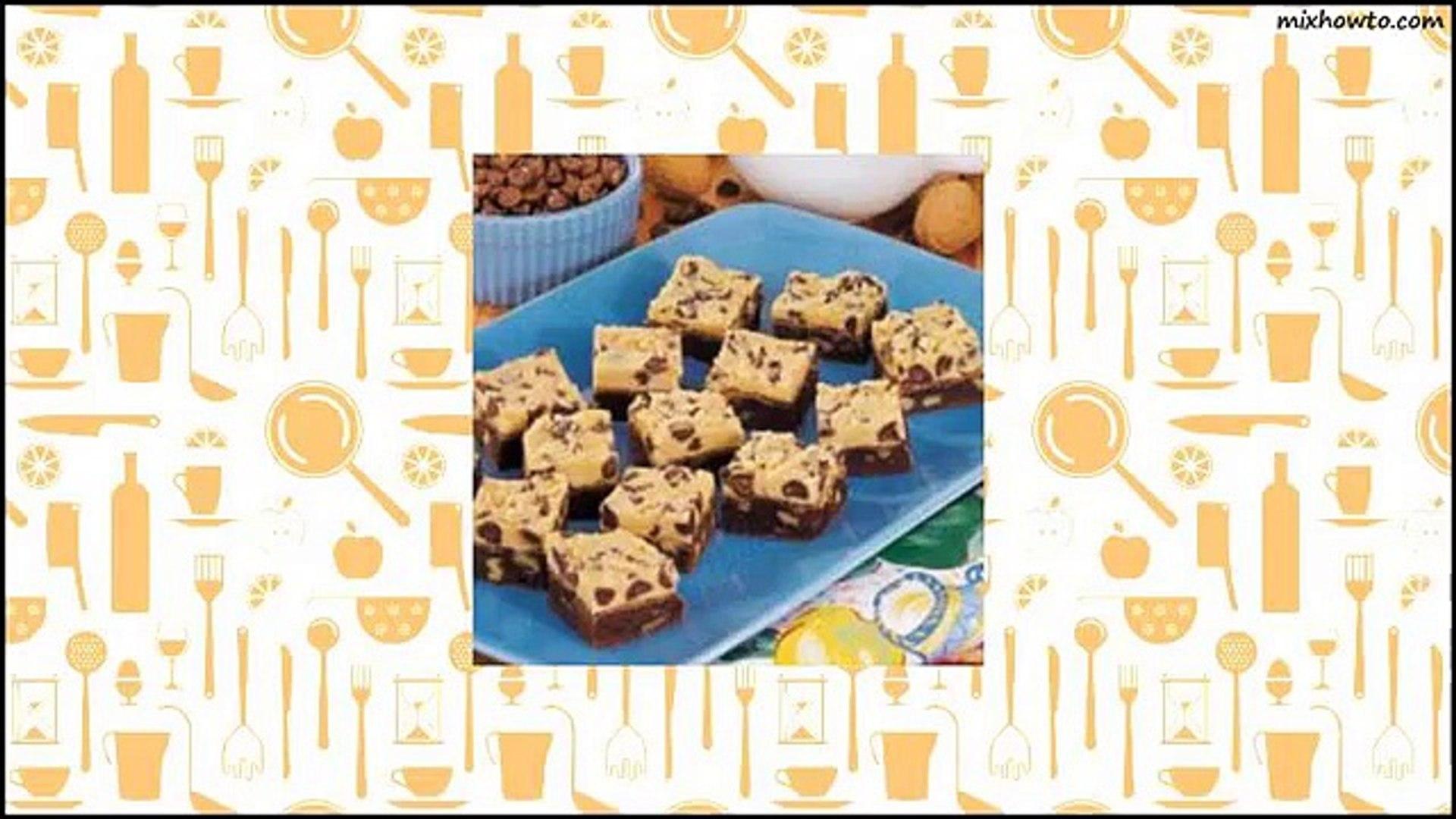Recipe Two-Tone Fudge Brownies Recipe