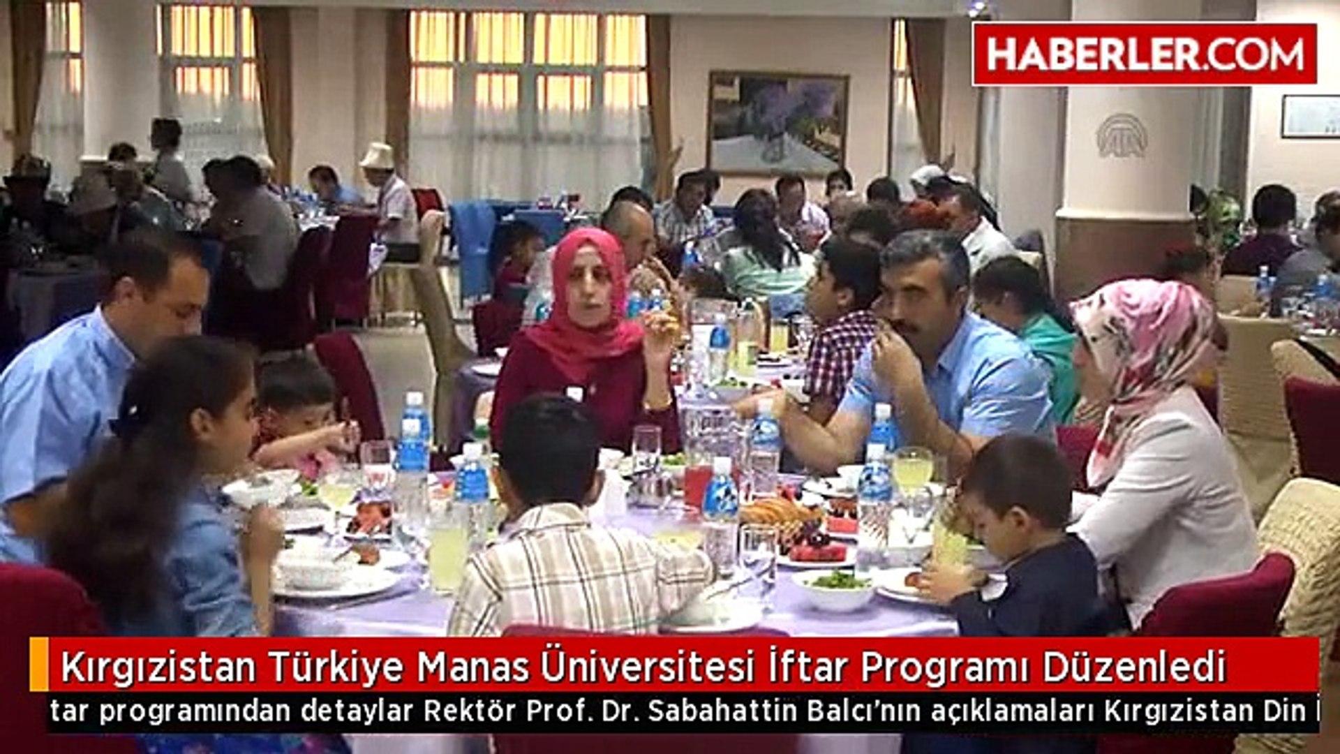 Kırgızistan Türkiye Manas Üniversitesi İftar Programı Düzenledi -  Dailymotion Video