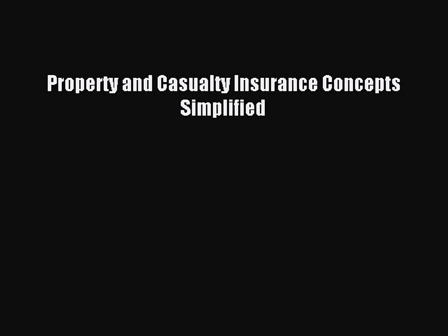 Property And Casualty Insurance Concepts Simplified Property Walls