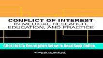 Read Conflict of Interest in Medical Research, Education, and Practice  Ebook Free
