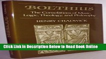 Read Boethius: The Consolations of Music, Logic, Theology, and Philosophy  PDF Free