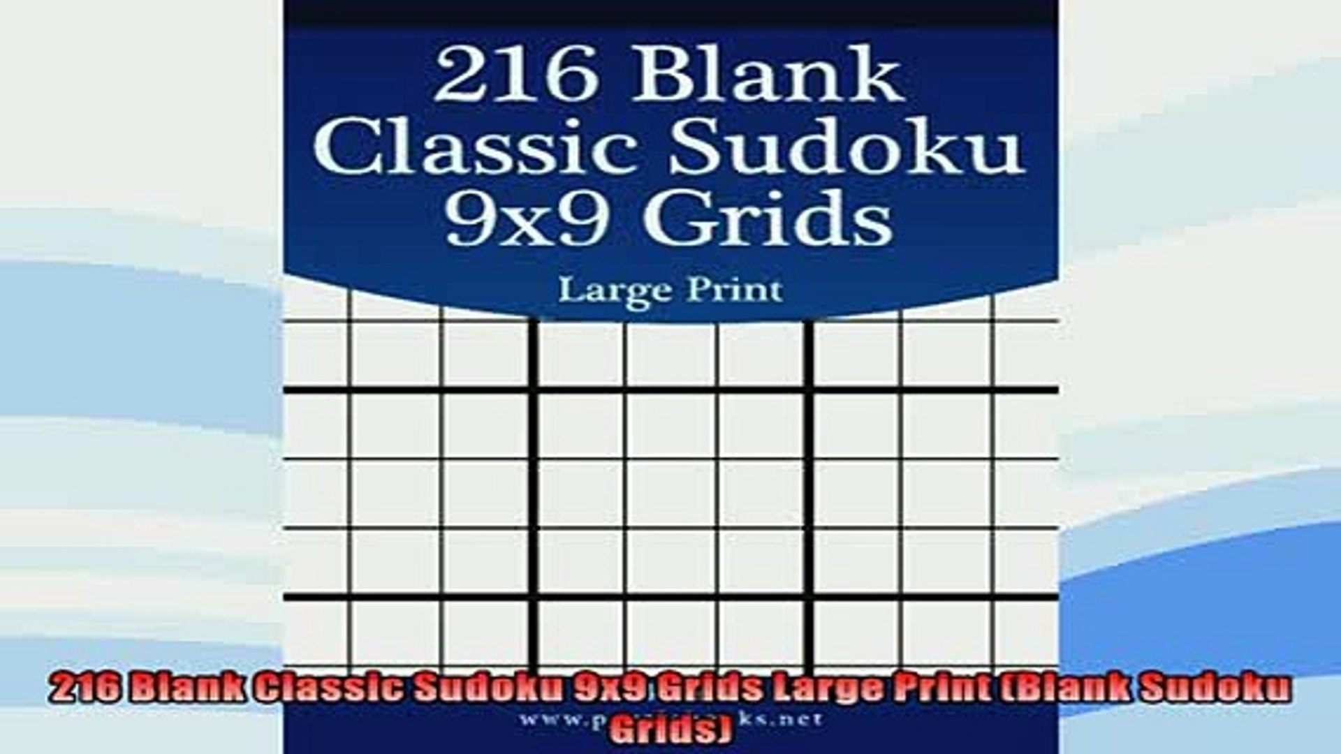 photograph regarding Blank Sudoku Grid Printable named E book On the net 216 Blank Clic Sudoku 9x9 Grids Significant Print Blank Sudoku Grids Guide On the web