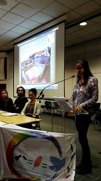 """Myriam Dessaivre, étudiante en Master Affaires Internationales et développement parcours """"Peace Studies"""""""