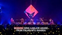 BIGBANG WINS A MAJOR AWARD FROM ITALIAN MTV AWARDS