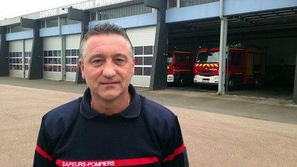 Pierrick Leroy, 30 ans à la caserne des pompiers de Caen