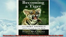 FREE PDF  Becoming a Tiger How Baby Animals Learn to Live in the Wild  FREE BOOOK ONLINE