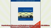 FREE PDF  Psychology Themes and Variations Briefer Version 7th Edition Themes and Variations With  BOOK ONLINE