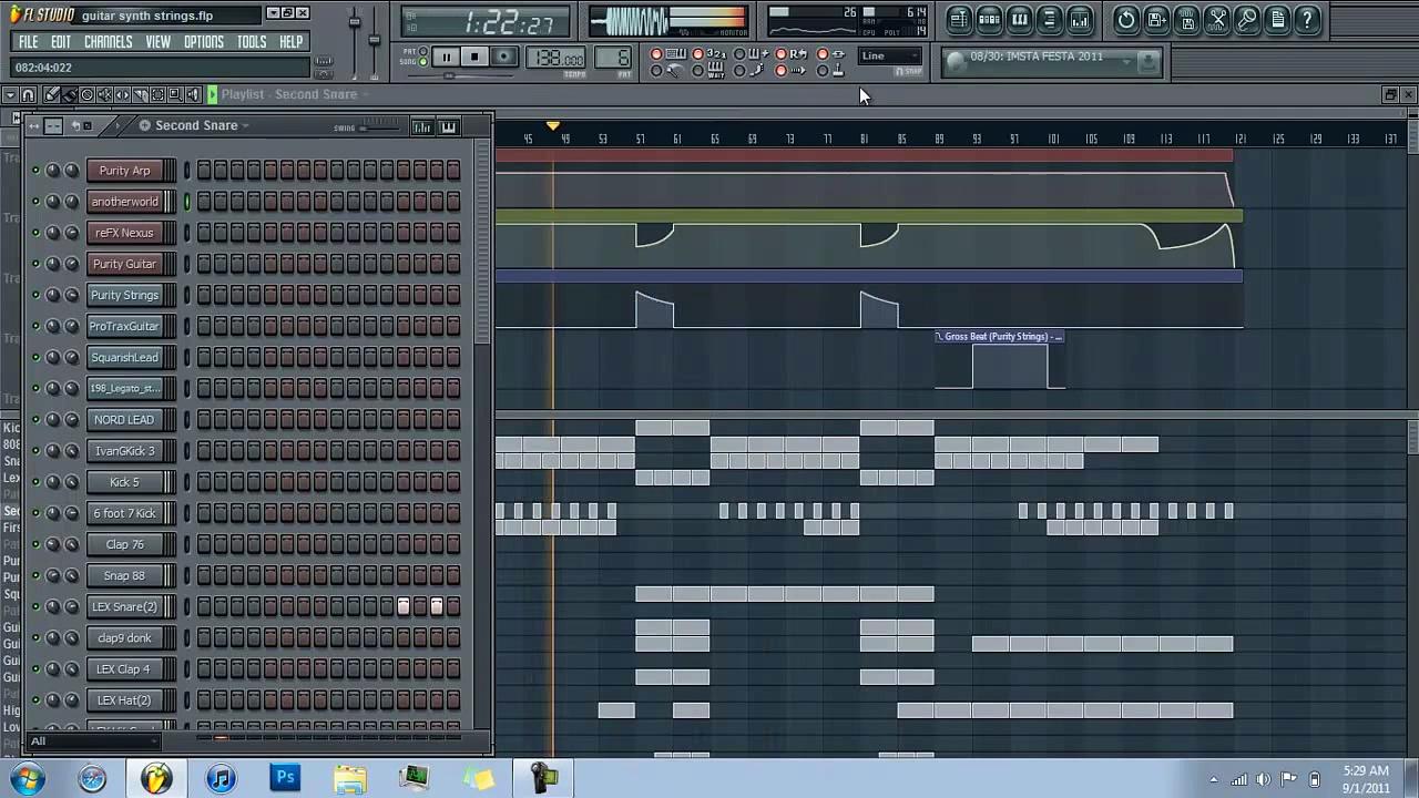 Jerzey – Guitar Synth Strings beat FL Studio 10