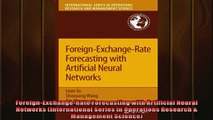 For you  ForeignExchangeRate Forecasting with Artificial Neural Networks International Series in