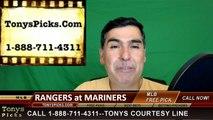 Texas Rangers vs. Seattle Mariners Pick Prediction MLB Baseball Odds Preview 6-11-2016.