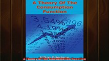 Popular book  A Theory Of The Consumption Function
