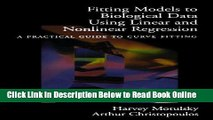 Read Fitting Models to Biological Data Using Linear and Nonlinear Regression: A Practical Guide to