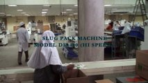 SLUG PACK MACHINE ON-LINE FOR PACKING BISCUITS STANDING ON-EDGE, BISCUITS PACKING MACHINE