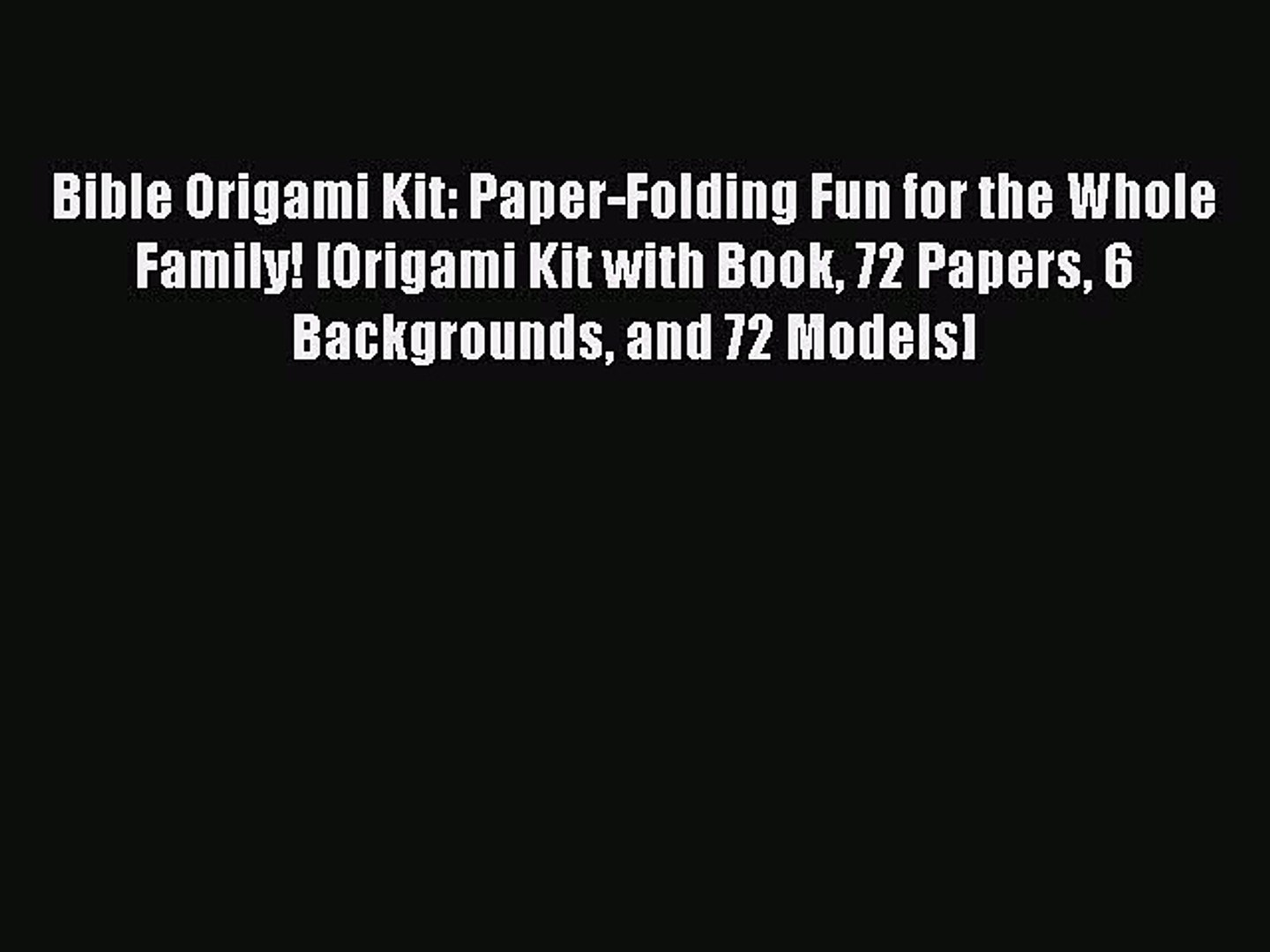 Dover Fun Kits Ser.: Origami Fun Kit for Beginners :