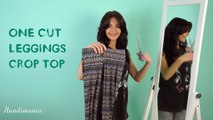 Changer votre legging en un vêtement original en une seul coupe sans fil ni aiguille !