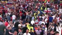 Russian Hooligans Attacking England Fans after the match England - Russia EURO 2016 HD