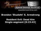 Speedrun - Resident Evil Dead Aim in 23:43 minutes (PS2) part 1