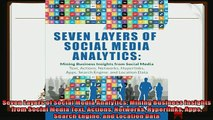 behold  Seven Layers of Social Media Analytics Mining Business Insights from Social Media Text