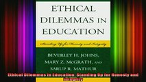 READ FREE FULL EBOOK DOWNLOAD  Ethical Dilemmas in Education Standing Up for Honesty and Integrity Full Ebook Online Free