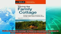 different   Saving the Family Cottage A Guide to Succession Planning for Your Cottage Cabin Camp or